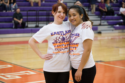 Eastlake High School student and faculty basketball game