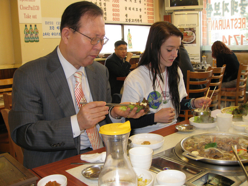 lunch with the president from ILC.  He is on the left.