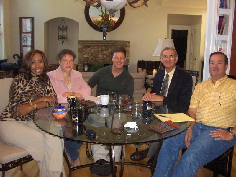 07 10 Breafast Meeting at Walkers home - the start of Atlanta FCH. Millard Fuller  far right.