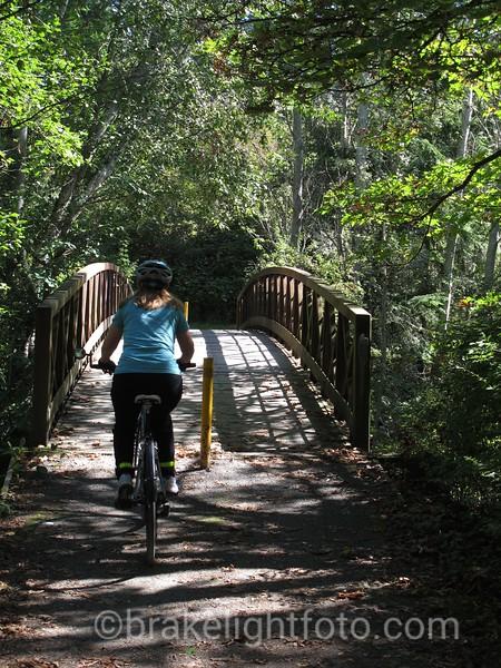Biking Colquitz Trail