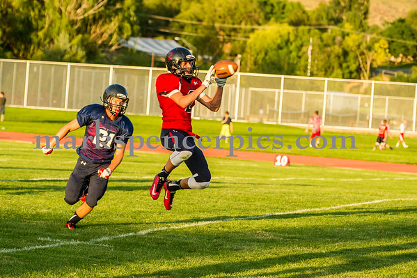 Football SHS Blue and Red Game 8-14-2015