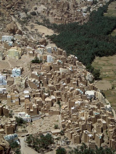 mud brick villages in the wadi