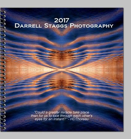 2017 Calendar abstract desk planner