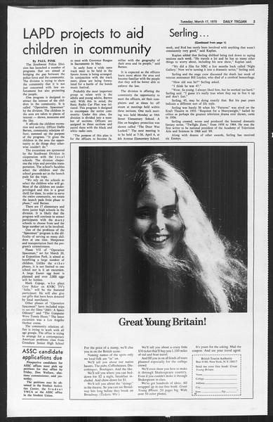 Daily Trojan, Vol. 61, No. 93, March 17, 1970