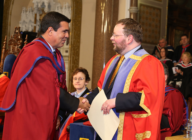 Pictured Paulo Marcio Da Silva Melo who was conferred a Doctor of Philosophy from Dr. Derek O'Byrne, Registrar of Waterford Institute of Technology (WIT). Picture: Patrick Browne.