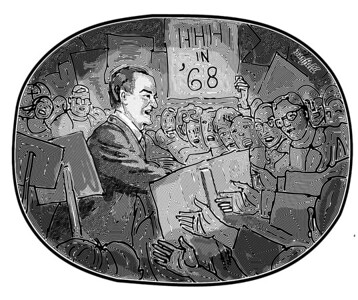 Hubert Humphrey on the Campaign Trail