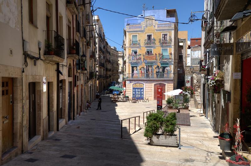 Street scene in Tarragona, Spain