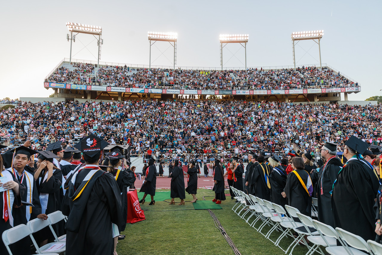 Memorial Stadium at Commencement 2018