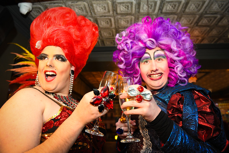 Swansea,6th Feb, 2019 The launch of the Mark Jermin Hit the Dance Floor, Swansea Pride event at Old Havana, Swansea.  Pictured are Ruby Slippers (left) and Lady Emerald.