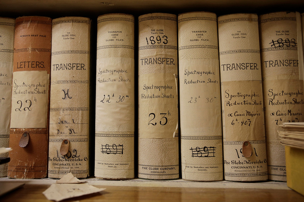 . Books of spectrographic reduction sheets sit on a shelf in the archive room at Lick Observatory east of San Jose, Calif. on Wednesday, May 8, 2013. The books contain analysis of photographic plates dating back to the late 1800\'s. The observatory will be celebrating its 125th anniversary.  (Gary Reyes/ Bay Area News Group)