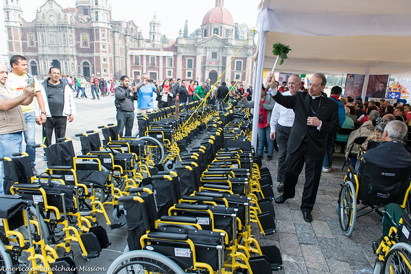 Basilica Wheelchair Distribution