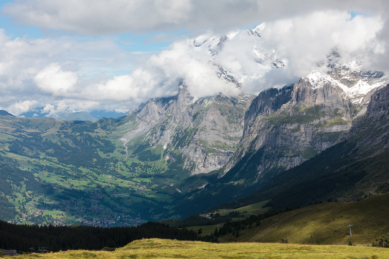 Grindelwald from Kleine Scheidegg