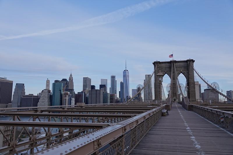 Manhattan from the Brooklyn Bridge.
