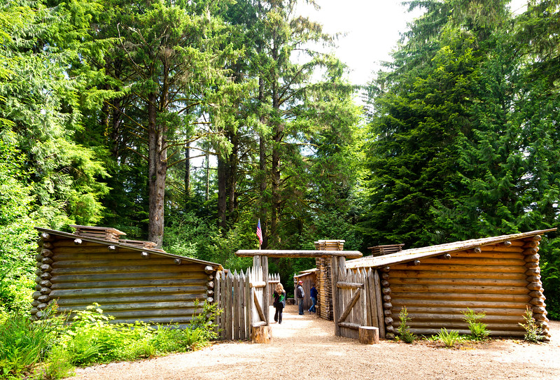Replica of Ft. Clatsop where Lewis and Clark's Corps of Discovery wintered over