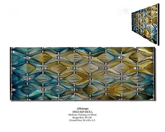 """Allotrope-Hollack, 30""""x80""""a1.5"""" painting on metal"""