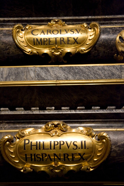 According to the desire of the king Philip II, most Spanish sovereigns, beginning with the emperor Charles V (Charles I of Spain) and Philip II himself, were buried at El Escorial.