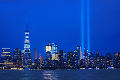9/11 Tribute Lights and Displays