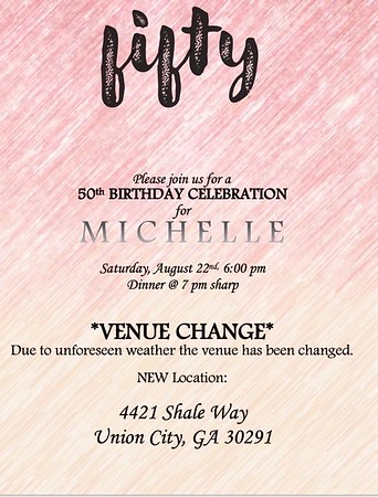 MICHELLE'S 50th BIRTHDAY CELEBRATION