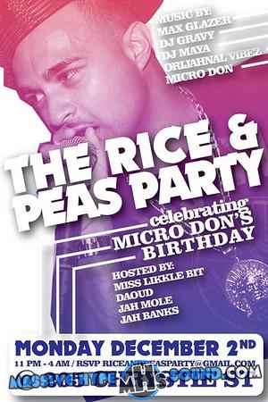 The Rice & Peas Party-Celebrating Micro Don's Birthday (12.2.13)