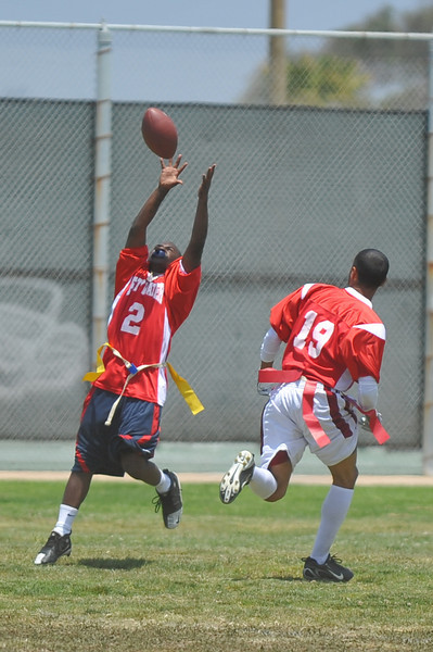 Reception, run in for touchdown.