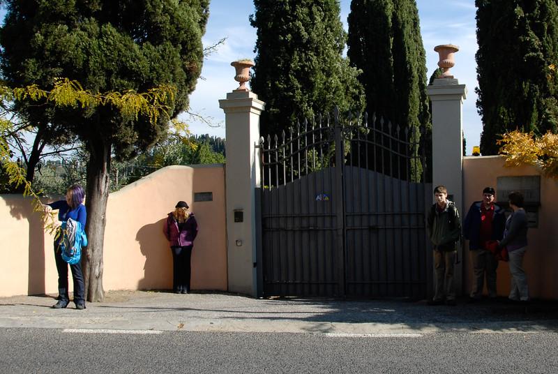 Gate to villa