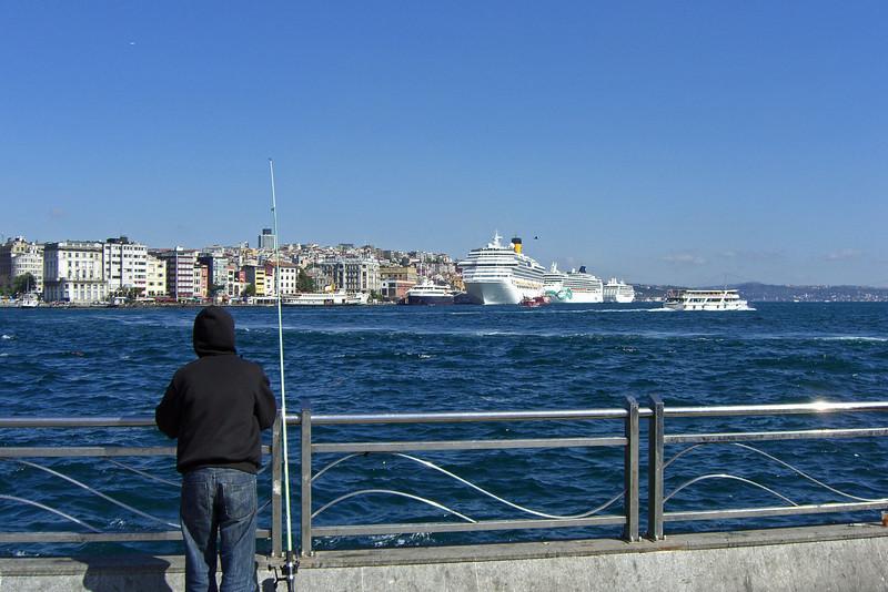 32-Golden Horn, cruise ships, Bosphorus