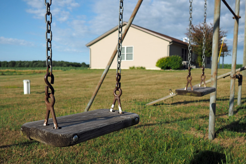 Playground swings at Sebewa Township Hall