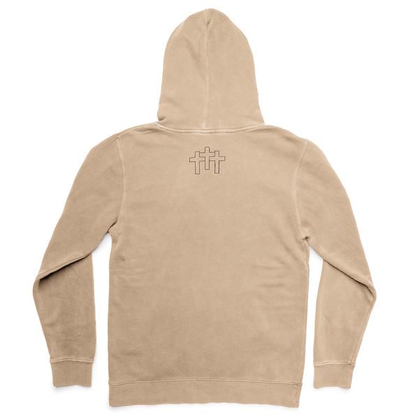 Outdoor Apparel - Organ Mountain Outfitters - Hoodie - 3 Crosses Heavyweight Hooded Sweater Sandstone Back.jpg