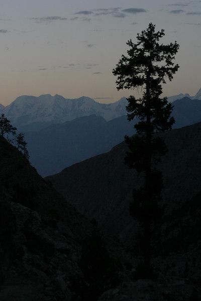 The sunset over Rakaposhi