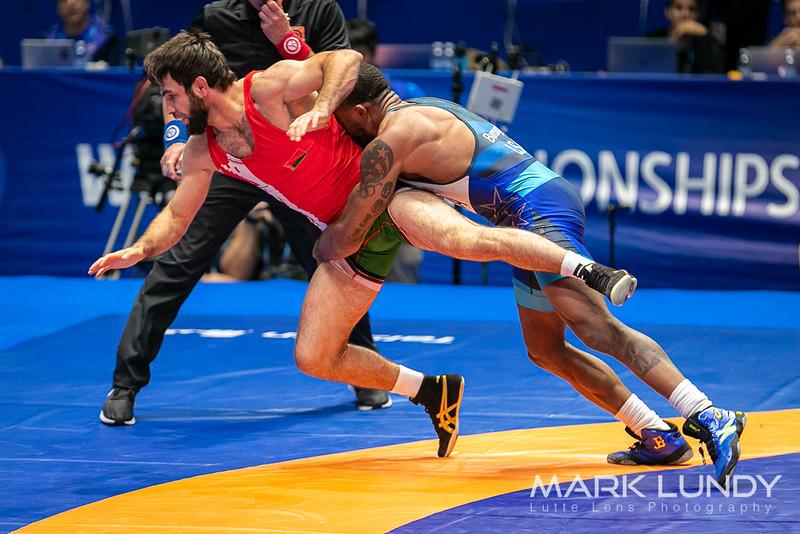 Champ. Round 2: Jordan Ernest Burroughs (United States) over Azamat Nurykau (Belarus)  •  Dec 11-10 - 2019 World Championships