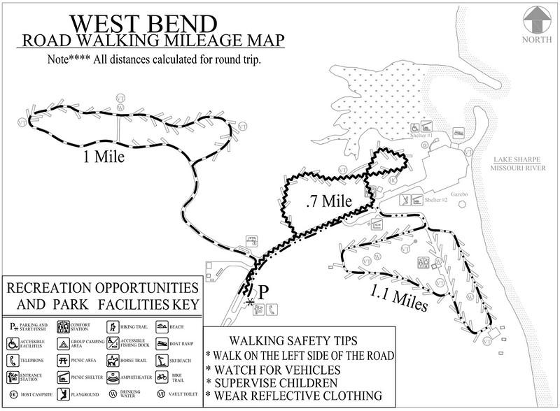 West Bend Recreation Area (Road Walking Map)