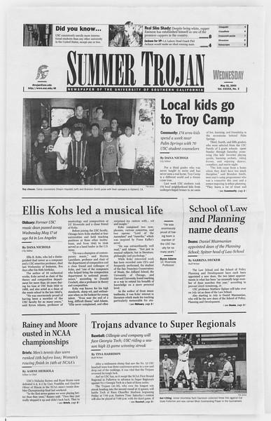 Summer Trojan, Vol. 140, No. 3, May 31, 2000