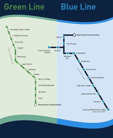 JTA First Coast Flyer Blue Line