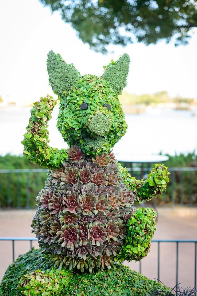 Piglet Topiary - Epcot Flower & Garden Festival 2016