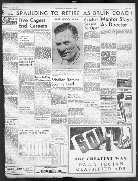 Daily Trojan, Vol. 29, No. 89, March 01, 1938