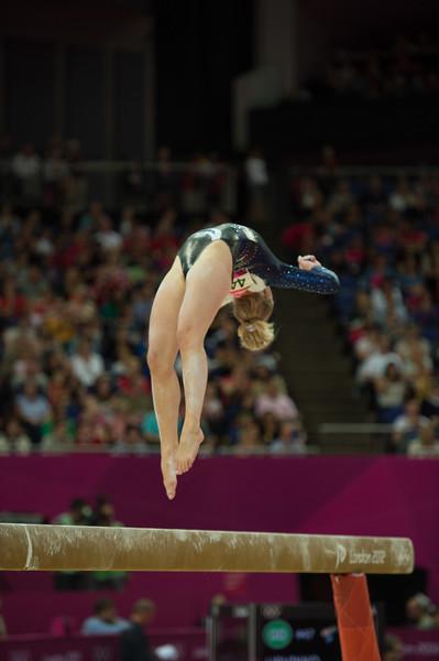 Annika Urvikko at London olympics 2012__29.07.2012_London Olympics_Photographer: Christian Valtanen_London_Olympics_Annika Urvikko at London olympics 2012_29.07.2012__ND49829_Annika Urvikko, finnish athlete, gymnastics