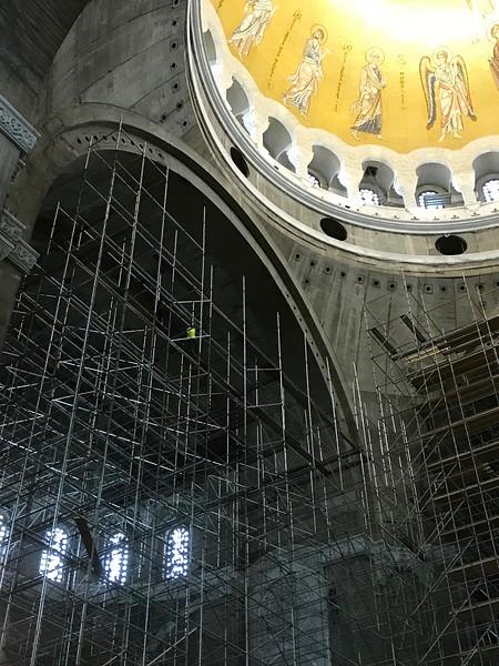 in Sveti Sava, the world's biggest Orthodox church, Belgrade