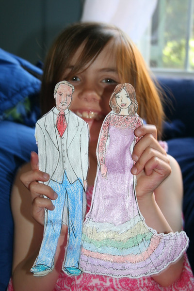 Royal paper dolls