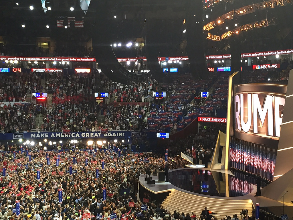 . The scene at the Republican National Convention in Quicken Loans Arena. (courtesy Sharon Gingerich)