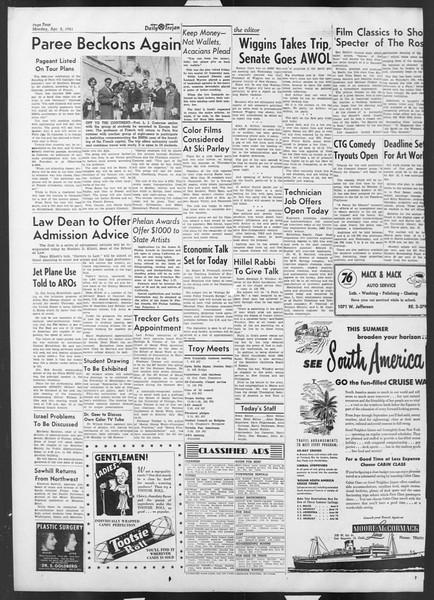 Daily Trojan, Vol. 42, No. 99, April 02, 1951