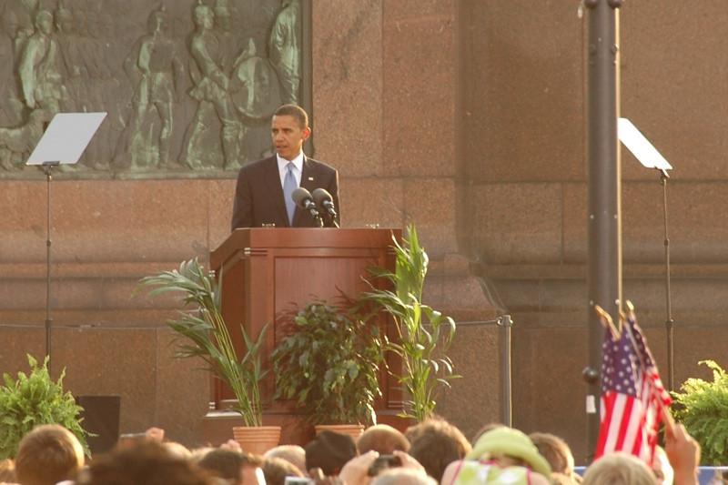 Barack Obama Speaks at Siegessaule - Berlin, Germany