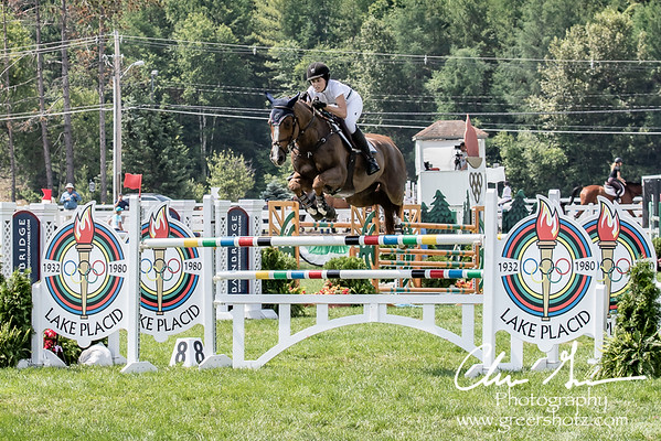Yasmin Rizvi on Lumiere at Lake Placid Horse Show 2018