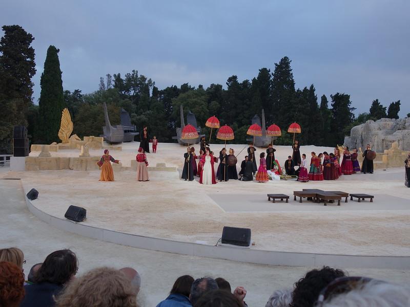 Clytemnestra and Chorus group