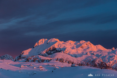 Sunset, night and sunrise on Velika planina - Feb 14-15, 2014