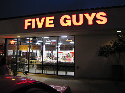 Five Guys Burger - Fullerton - 6/9/11
