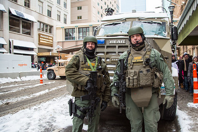 Militarized Police at the Super Bowl, Minneapolis, February 3