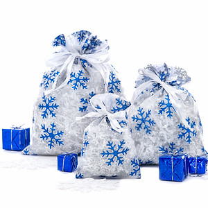 Snow Flake Sheer Fabric Bag