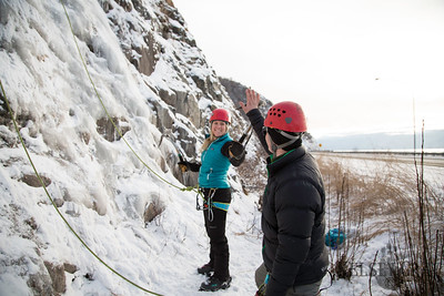 Ice Climbing at the Scales w/ Marin, Sam, Rod, Ilya, and Robert 01/30/15