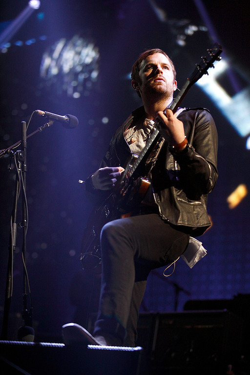 . Caleb Followill of Kings Of Leon performs at The Palace on Feb. 11, 2014. Photo by Ken Settle