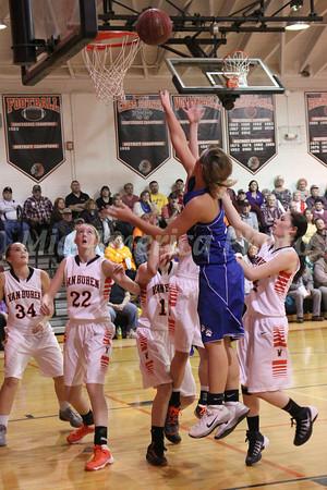 Girls Basketball, Danville vs Van Buren 1/21/2014